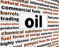Oil commercial fuel poster Royalty Free Stock Photos