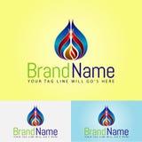Oil company logo designs royalty free illustration