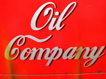 Oil Company red sign Stock Photography