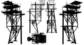 Oil Construction Platform Vector Stock Photography