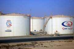 Oil containers middle east Stock Photography