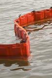 Oil containment boom stock photo
