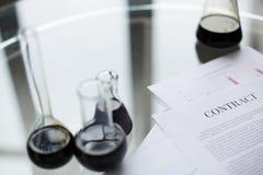 Oil contract Stock Photos