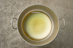 Oil. For cooking in hot pan Royalty Free Stock Image