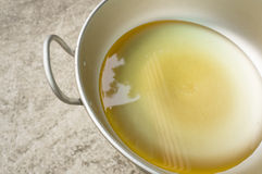 Oil. For cooking in hot pan Royalty Free Stock Photo