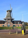Oil and corn mill.Netherlands. Roderwolde, November-13-2011.Oil and corn mill Woldzigt from 1852 in Roderwolde. The Netherlands Stock Image