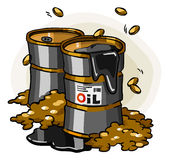 Oil Crisis. Cartoon Series Stock Image