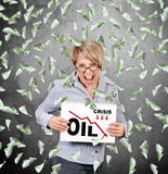 Oil crisis chart Stock Photography