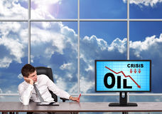 Oil crisis concept Royalty Free Stock Image