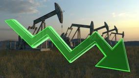 Oil decrease concept Royalty Free Stock Photo