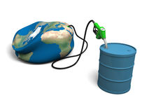 Oil depleting Stock Images