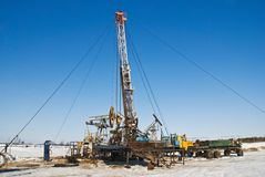 Oil deposit Royalty Free Stock Images