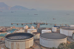 The Oil Depot at Nam Wan hk Royalty Free Stock Photography