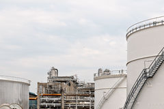 Oil depot storage tanks royalty free stock images