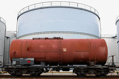 Oil depot storage tanks Stock Photography