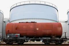 Oil depot storage tanks stock photography