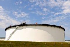 Oil depot storage tanks stock photos