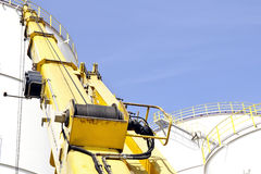 Oil depot storage tanks royalty free stock photo