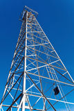 Oil derrick. Located in front of State Capitol in downtown Oklahoma stock image
