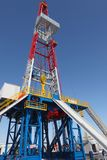 Oil derrick. On background of sky royalty free stock image