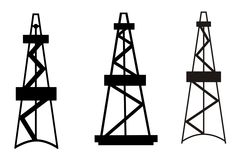 Oil Derrick Royalty Free Stock Photos