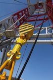 Oil derrick. On background of sky stock image