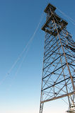 Oil Derrick. Against blue sky royalty free stock photography