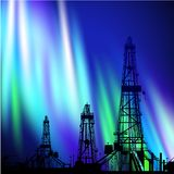 Oil derrick background. Royalty Free Stock Images