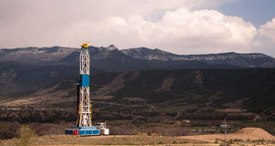 Oil Derrick Crude Pump Industrial Equipment Colorado Rocky Mountains Royalty Free Stock Images