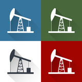 Oil derrick icon. Stock Image