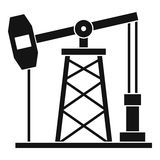 Oil derrick icon, simple style Royalty Free Stock Images