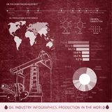 Oil derrick infographic. Stock Images