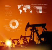 Oil derrick infographic Stock Image