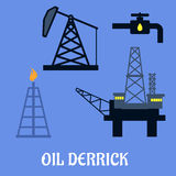 Oil derrick and mining concept Stock Image