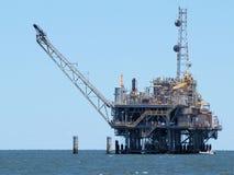 Oil Derrick. An oil derrick in Mobile Bay, Alabama stock photo
