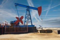 Oil derrick - oil production in Azerbaijan Stock Image