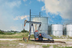 Oil Derrick. Pumping oil near Houston, Texas USA Stock Photos