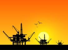 Oil derrick Stock Photos