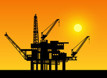 Oil derrick Stock Photos