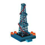 Oil derrick tower on white Royalty Free Stock Photography