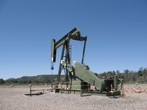 Oil Derrick at work in Alberta, Canada. Royalty Free Stock Photos