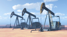 Oil Derricks Stock Image