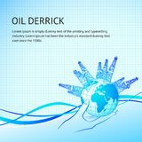 Oil derricks Royalty Free Stock Photography
