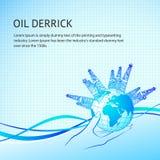 Oil derricks Royalty Free Stock Photography