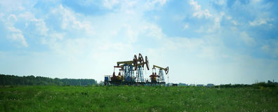 Oil derricks Royalty Free Stock Images