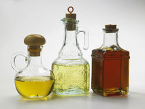Oil. Different type of oil in bottles Royalty Free Stock Photos