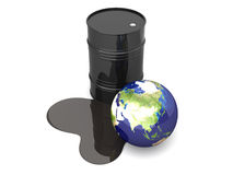 Oil disaster - Asia royalty free illustration
