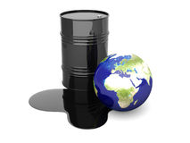 Oil disaster - Europe Royalty Free Stock Image