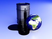 Oil disaster - Europe Royalty Free Stock Photography
