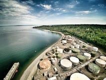 Oil Docks royalty free stock photography
